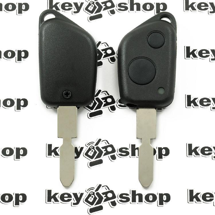 Корпус ключа для пежо (PEUGEOT) 406, 2 кнопки,лезвие NE78