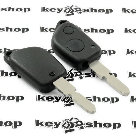 Корпус ключа для пежо (PEUGEOT) 406, 2 кнопки,лезвие NE78, фото 2