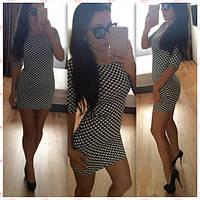 Платье трикотажное кубик. Арт - 362/10 Купить женские платья от производителя