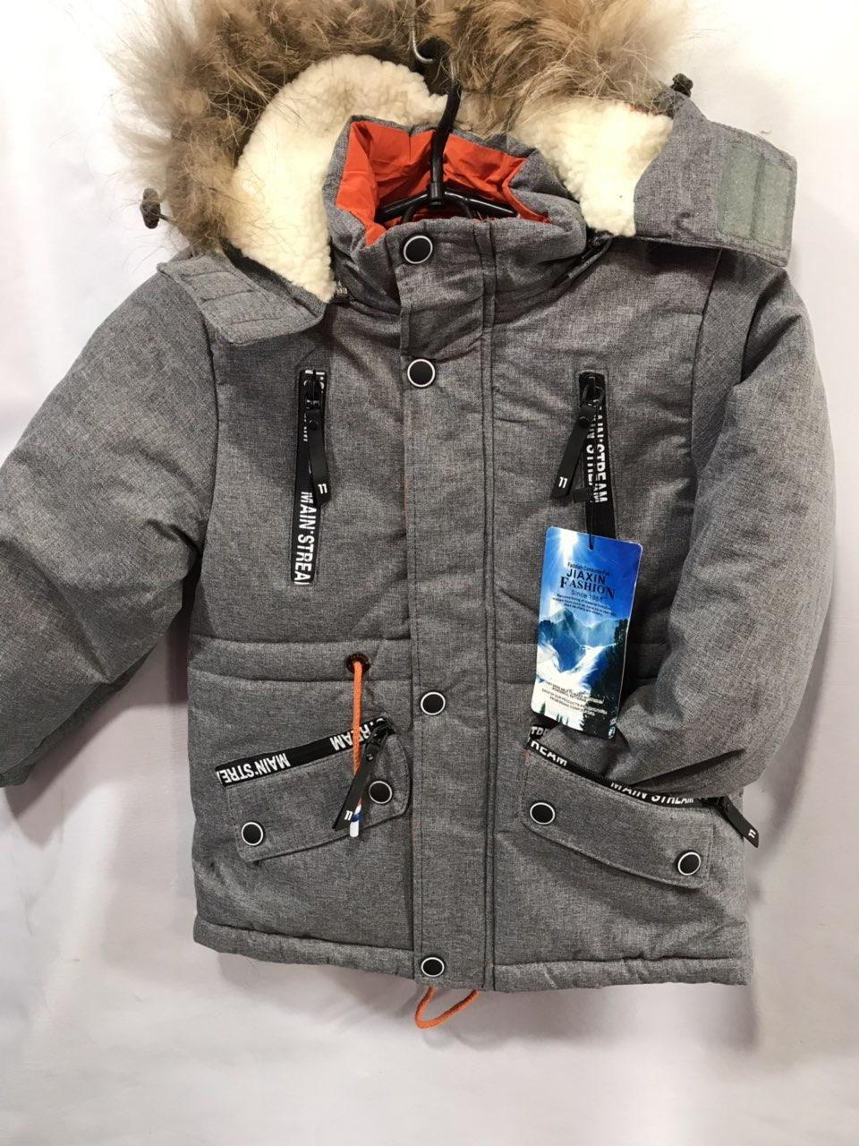 Детская куртка для мальчика зимняя р. 4-8 лет опт