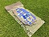 Велоперчатки с пальцами Ромб синие М, фото 6