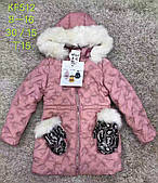 Куртка на хутрі для дівчаток S&D , 8-16 років. Артикул: KF512
