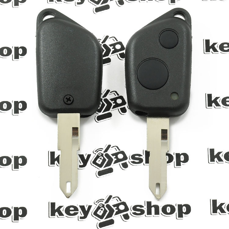 Корпус ключа для пежо (PEUGEOT) 306, 2 кнопки лезвие NE 73