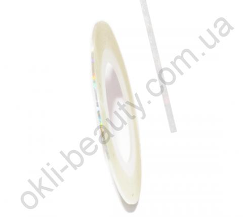 Декоративная самоклеющаяся лента (0,8 мм) №2 Цвет: прозрачный, голограмма