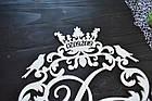 Свадебный герб, монограмма с инициалами, инициалы с датой, объемные буквы на свадьбу, семейный герб с короной, фото 2