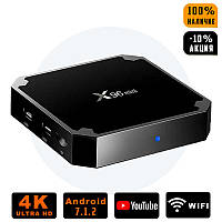 Смарт ТВ приставка X96 mini 2/16, TV Smart Box на Android (Андроид), ОЗУ 2GB HDD 16GB