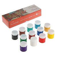Набор гуашевых красок Сонет 12 цветов 40 мл баночки в картоне (350433)