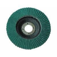 Круг лепестковый торцевой циркониевый КЛТ Т27, 125х22 мм, P36(зел.)