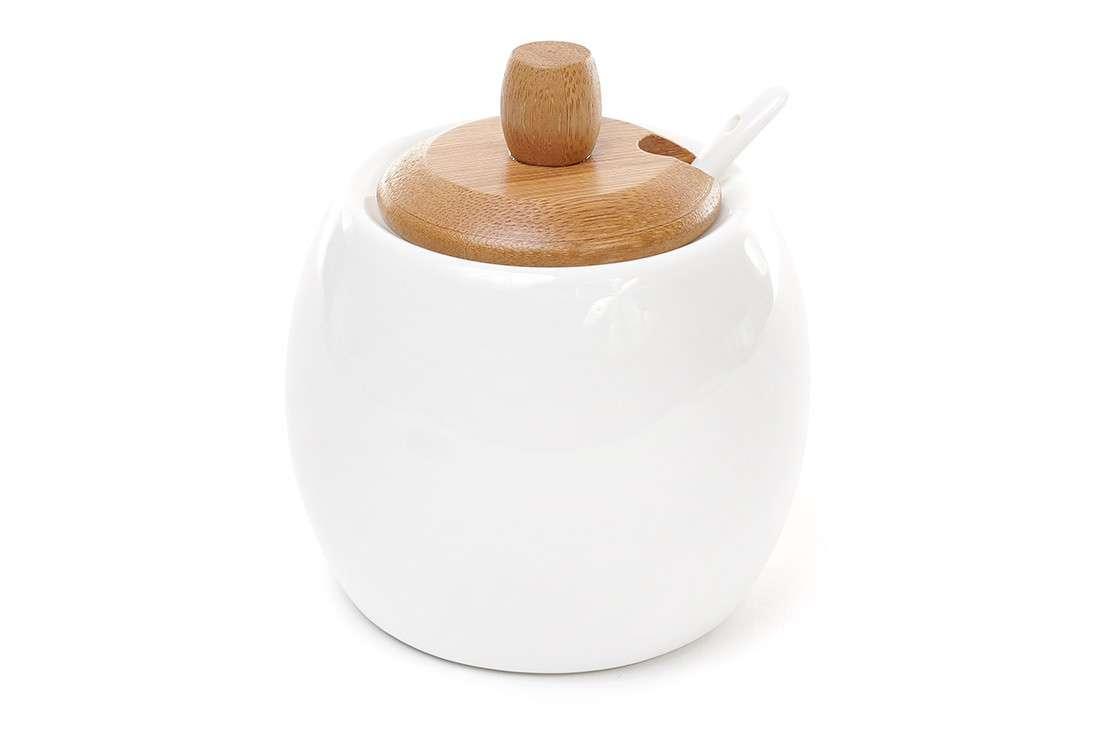 Сахарница с ложкой Naturel BonaDi 375-328