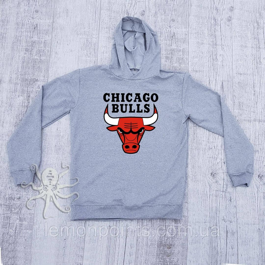 Худи теплое (флис) Chicago Bulls
