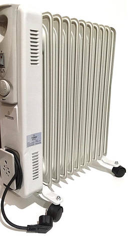 Масляний обігрівач 7 секцій Heater CB 7 S Crownberg 1500W, фото 2