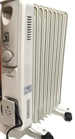 Масляный радиатор Heater CB 9 S Crownberg 2000W масляный обогреватель на 9 секций 2000Вт с терморегулятором, фото 2