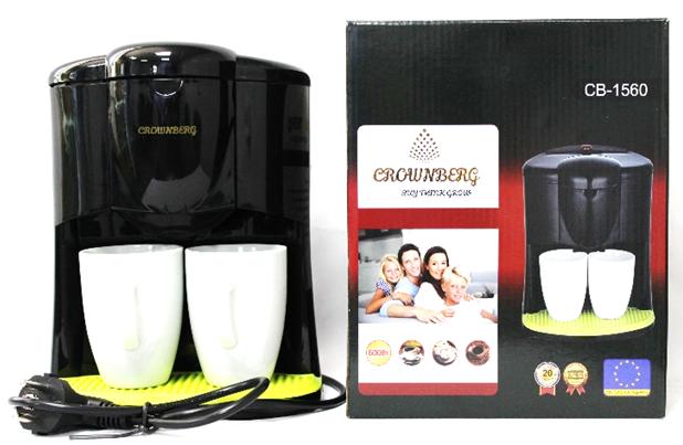Капельная кофеварка CB-1560, Crownberg. Кофе-машина Crownberg CB-1560
