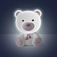 Ночник «Сладкий плюшевый мишка» Chicco (Розовый)