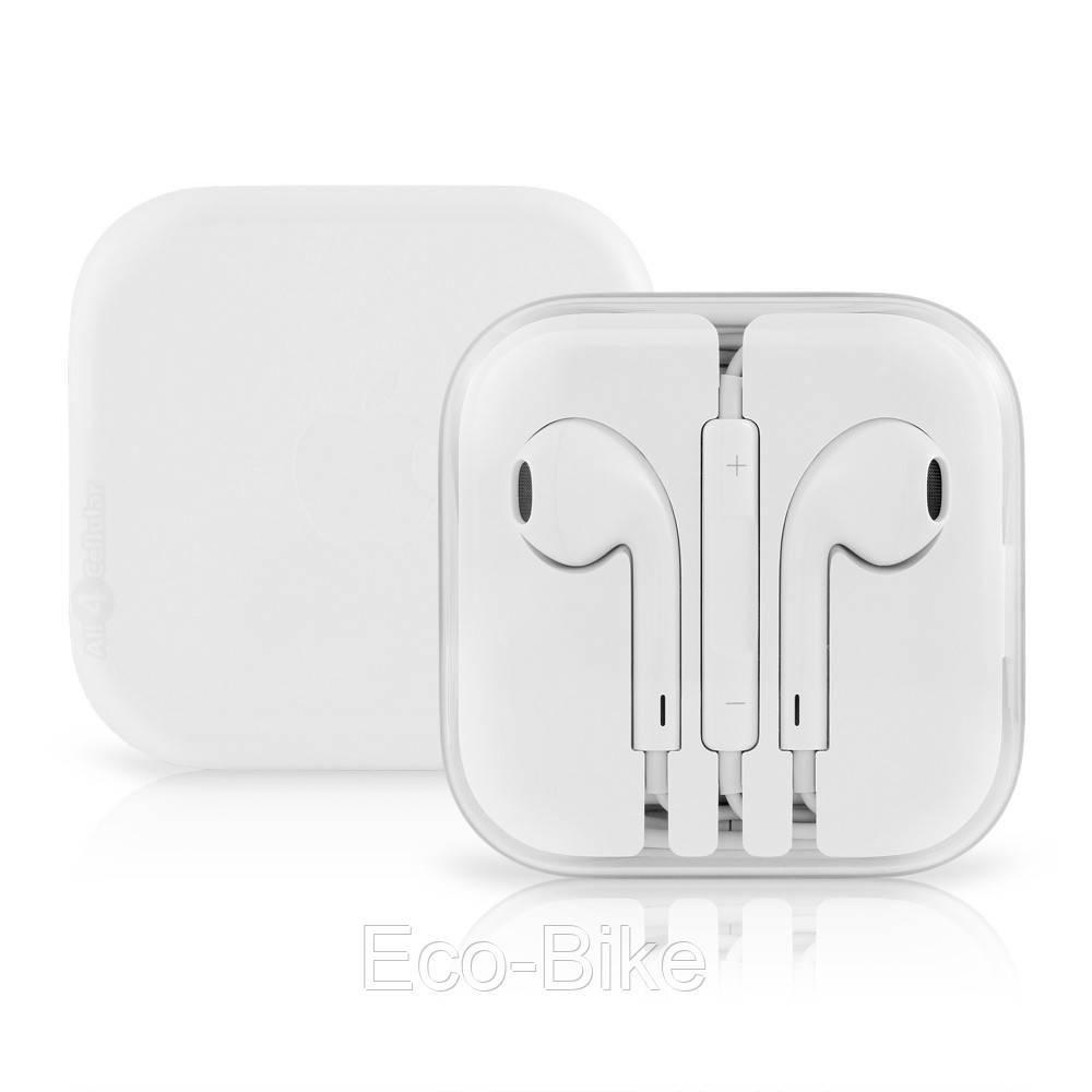 Наушники Apple EarPods iPhone гарнитура, проводные наушники белые с микрофоном