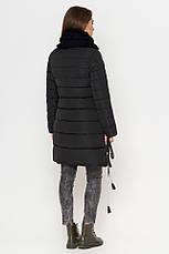 Женская куртка Braggart Tiger Force зимняя с воротником стойкой ассиметричного кроя черная размер 44 46 48 50, фото 3