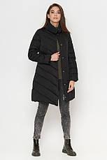 Женская куртка Braggart Tiger Force зимняя с воротником стойкой ассиметричного кроя черная размер 44 46 48 50, фото 2