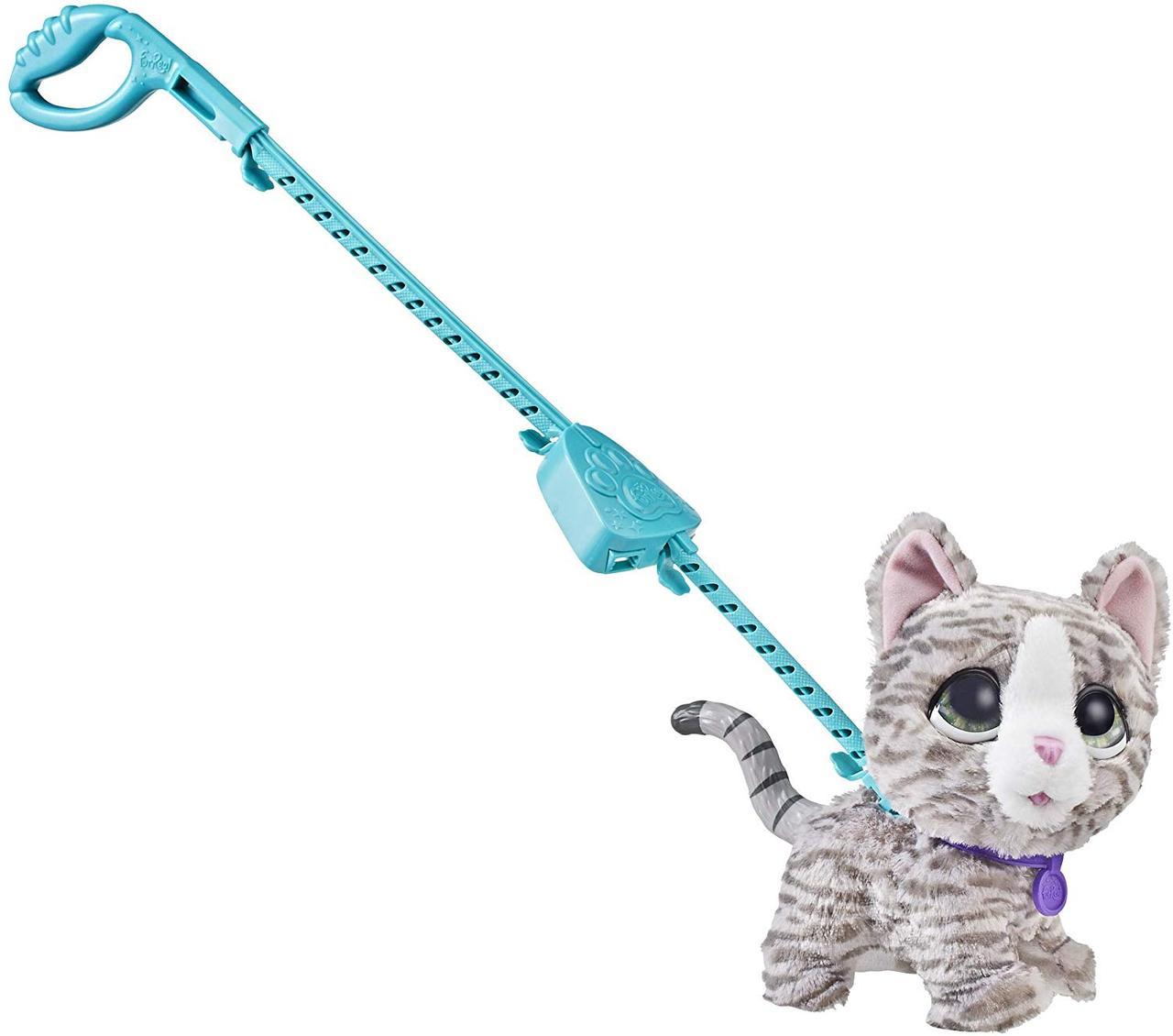 Интерактивный питомец на поводке Кошка FurReal Friends Walkalots Big Wags, Kitty