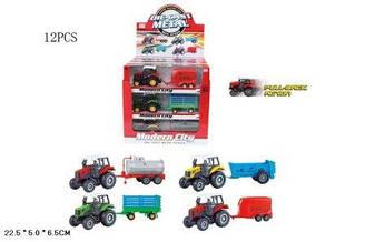 Модель трактор дитячий M6398A-12 (144шт/2)  металевий 4 кольори в боксі 12 шт. 27*26*28 см