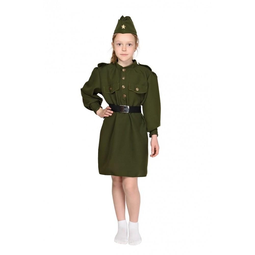 Карнавальный костюм Военного солдата для девочки