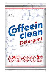 Средство порционное (порошок) для удаления кофейных масел (40 г) Coffeein clean DETERGENT