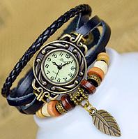 Оригинальные женские часы, винтажные, с браслетом, цвет - чёрный