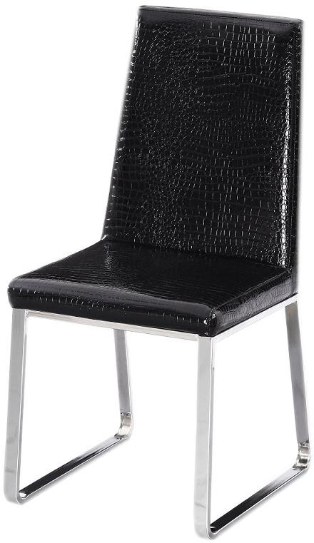 Стул Бэкки черный с принтом от SDM Group, ноги хром