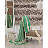 Покрывало хлопковое Eponj Home - Hasir A.Yesil светло зеленое 200*240