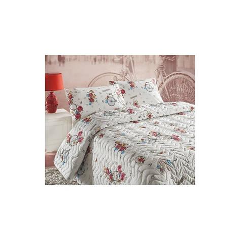 Покрывало стеганное с наволочками Eponj Home - Rosie белый 200*220, фото 2