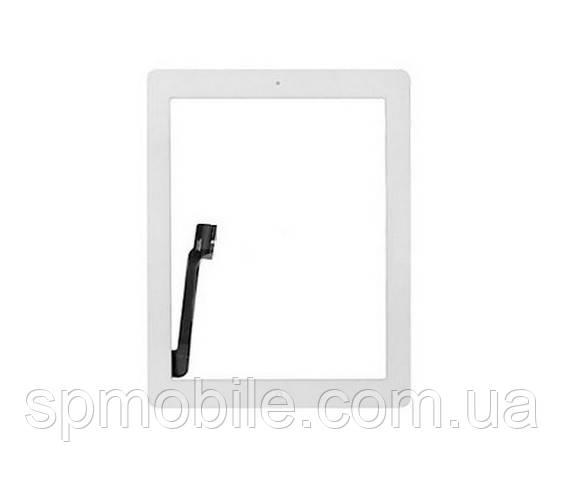 Тачскрин iPad 3/iPad 4 (A1416/A1430/A1403/A1458/A1459/A1460) с кнопкой (White)