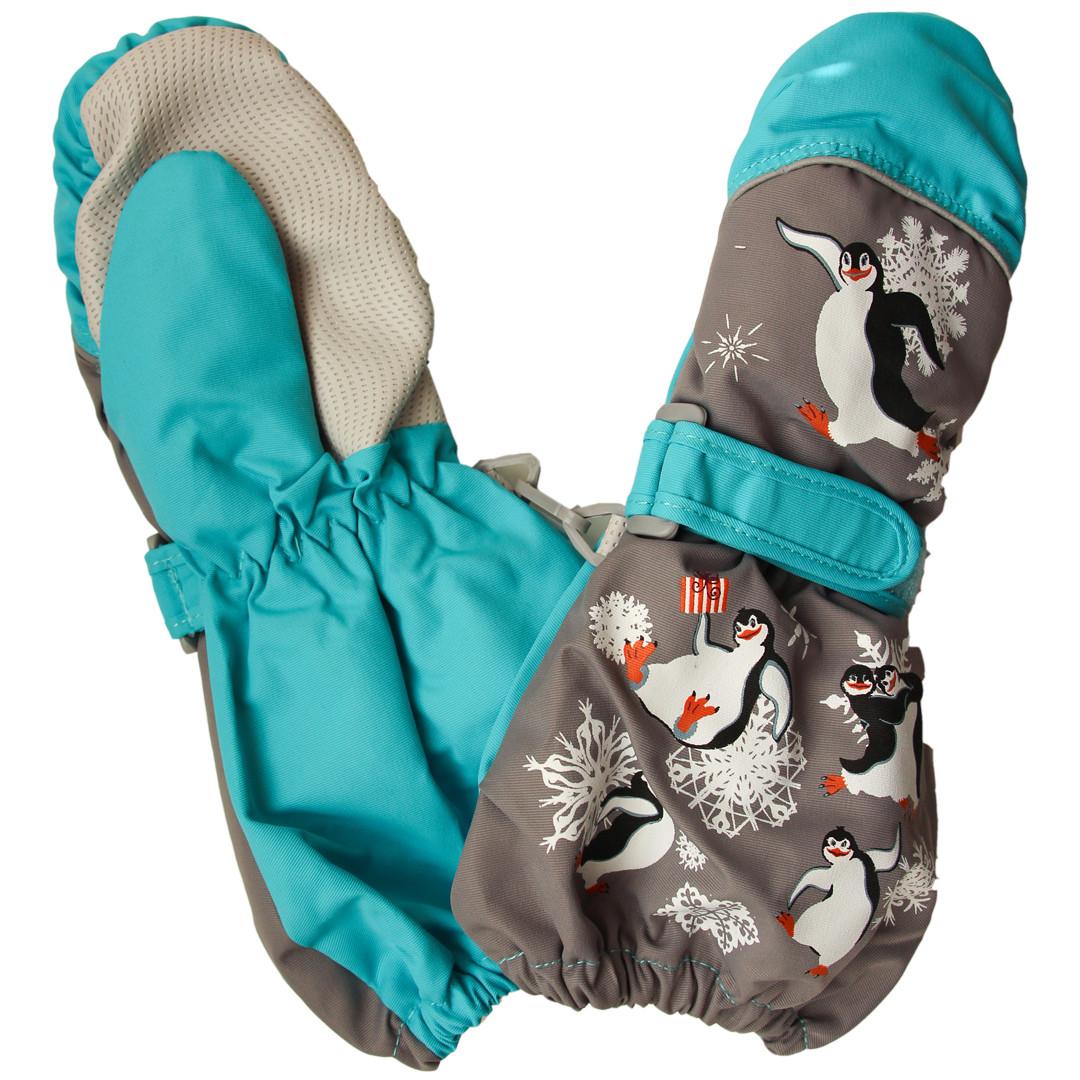 Дитячі зимові термокраги рукавиці для дівчинки і хлопчика від 2-х до 6-ти років сірі