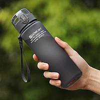 Бутылка для воды с дозатором и кнопкой POWCAN 560мл матовый пищевой пластик