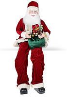 Новогодняя игрушка Сидячий Санта 80см, цвет - красный