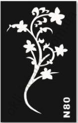 Трафареты для боди-арта, био-тату  N80