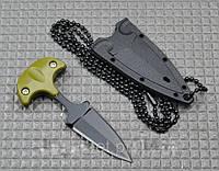 Нож тычок пуш даггер + чехол рукоять пластик, клинок стальной качественный нож тычковый, фото 1