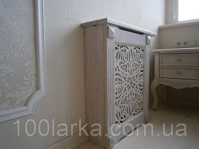 Экраны деревянные №1А на батарею отопления,с декоративной прорезной решеткой.
