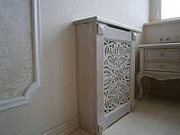 Экраны деревянные №1А на батарею отопления,с декоративной прорезной решеткой., фото 1