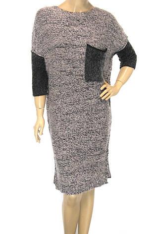 Вязане вільне плаття оверсайз, фото 2