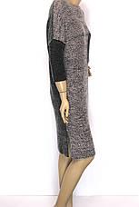 Вязане вільне плаття оверсайз, фото 3
