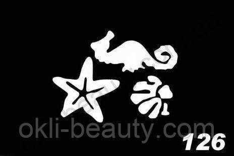 Трафареты для боди-арта, био-тату  L126