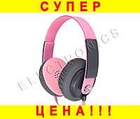 Стильные наушники Yongle YL-EP12  -- РОЗОВЫЕ