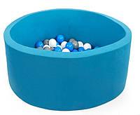 Детский сухой бассейн с шариками круглый 90 см