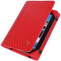 """Чехол на 7""""-8""""дюймов для планшетов (Кожа) универсальный Brum Classic №77 Красный"""