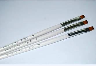 Кисть для геля искуственная №8  YRE с деревянной ручкой