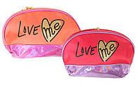 "Косметичка ""Love me"" полукруглая, 4 цвета, 13725"