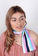 Узкие шарфы FAMO Шарф Лиана голубой 149*17 #L/A