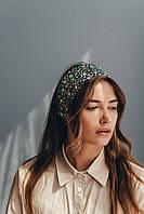 Узкие шарфы FAMO Шарф Лиана зеленый 149*17 #L/A