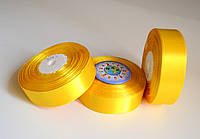 Лента атласная 25 мм Жёлтая