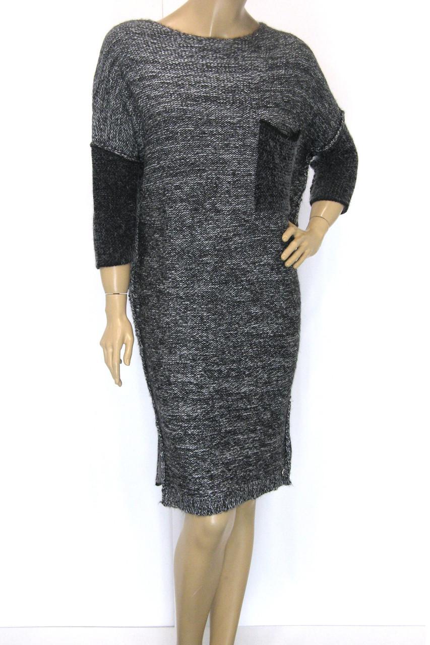 Вязане вільне плаття