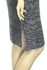 Вязане вільне плаття, фото 2